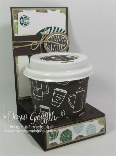 mini coffee cup gift card holder video dawns stamping