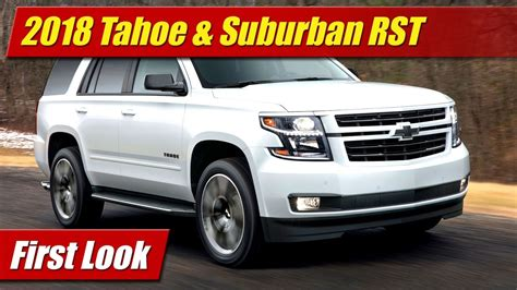First Look 2018 Chevrolet Tahoe & Suburban Rst