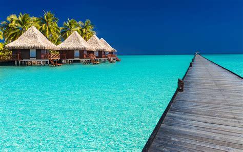 马尔代夫风景图片 清新唯美海景壁纸 - 【可爱点】