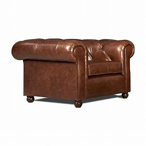Canapé Chesterfield Cuir Vieilli : fauteuil chesterfield cuir vieilli en stock mister canape ~ Teatrodelosmanantiales.com Idées de Décoration