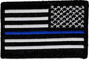Reverse U.S. Thin Blue Line Flag Patch