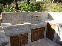 best french country outdoor kitchen French Country Limestone Sink outdoor BBQ Kitchen Sink 'Al Fresco' - Mediterranean - Outdoor ...