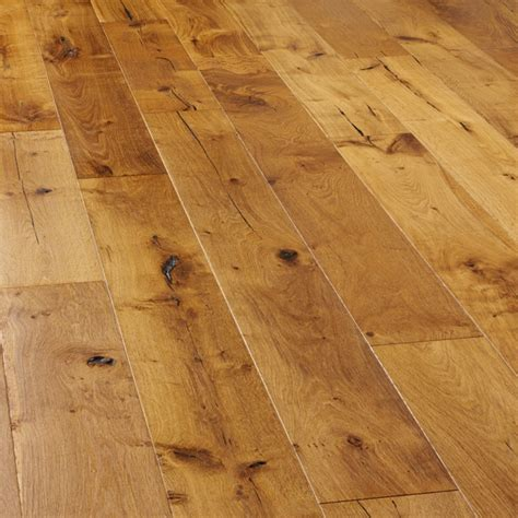 Augustus Rustic Oak Distressed & Smoked UV Oiled 190mm   VEP04