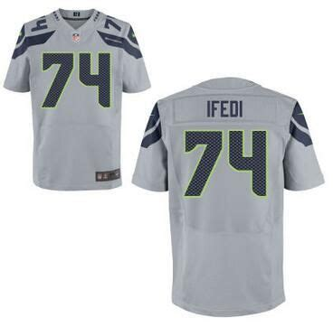 mens seattle seahawks  germain ifedi nike gray elite