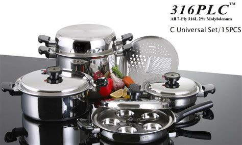 cookware waterless stainless 316ti health plc