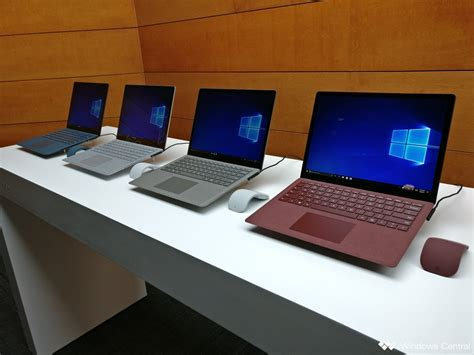 color laptops which color surface laptop should you buy windows central