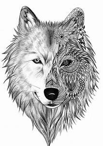 Wolf Tattoo Zentlange … | Pinteres…