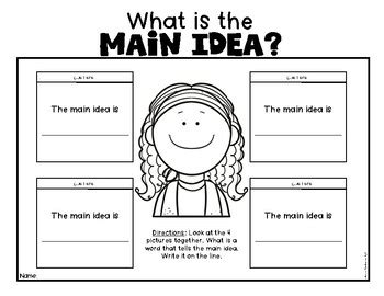 main idea made easy with pictures for kindergarten first grade reading