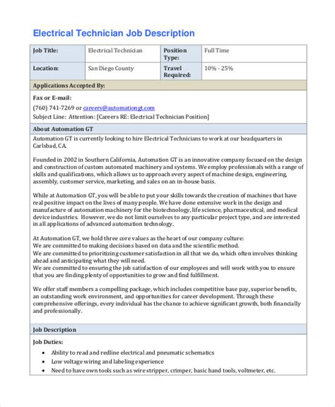 electrical engineer description resume sle