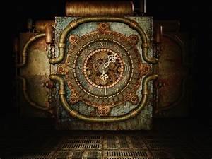 Temps De Garde Des Papiers : papier peint temps de steampunk pixers nous vivons pour changer ~ Gottalentnigeria.com Avis de Voitures