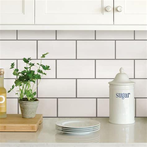 white subway peel stick backsplash tiles nh2363 the home
