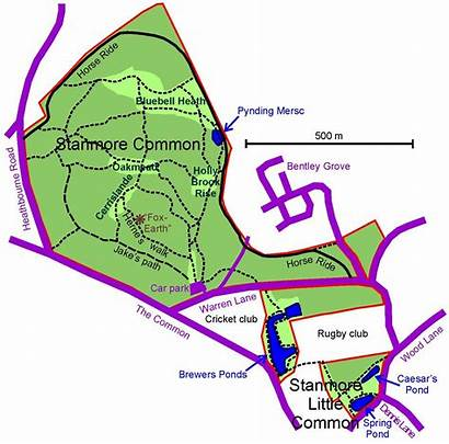 Stanmore Common Map Harrow Plan Sc Site