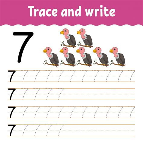 trace  write  images worksheets  kids