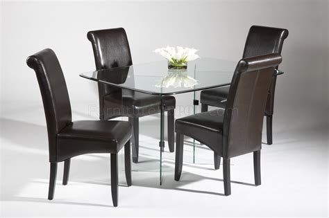 surfboard glass top modern dining table woptional chairs