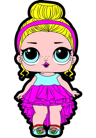 printable lol doll surprise   party coloring page
