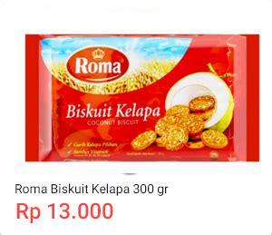 harga biskuit roma kelapa jun 2019 cashback shopback