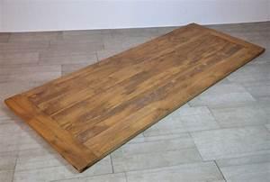 Holzplatte Massiv Eiche : alte eiche tischplatte massiv aus alten scheunenbalken rustikal livior m bel im industrie ~ Markanthonyermac.com Haus und Dekorationen