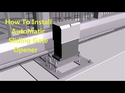 How To Install A Automatic Sliding Gate Opener, Flash