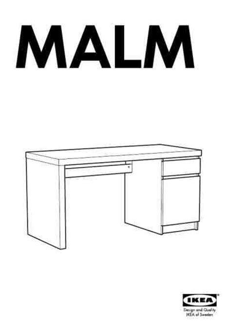 bureau malm ikea ikea malm bureau furniture manual for free now