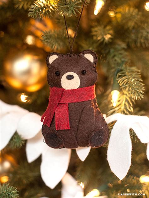 bear christmas ornaments felt ornament a downloadable pattern for the tree
