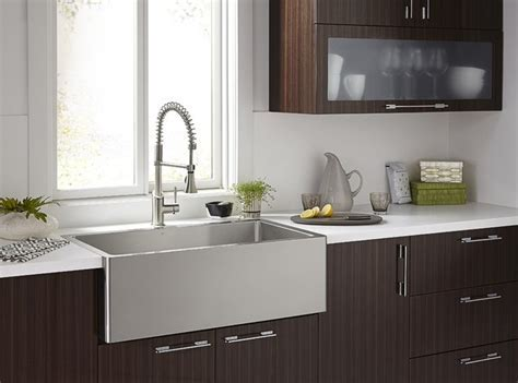 Orchard Stainless Steel Apron Sink   Modern   Bathroom