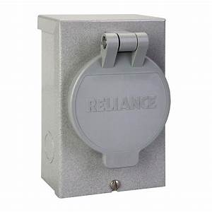 Power Inlet Box 30 Amp Flanged Inlet Plug Raintight Cover