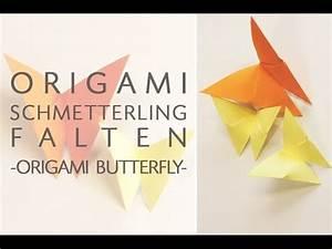 Origami Schmetterling Anleitung : origami schmetterling falten anleitung fr hlingsdekoration ~ Frokenaadalensverden.com Haus und Dekorationen
