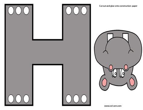 prep prek letter  hippo theme  cori ann
