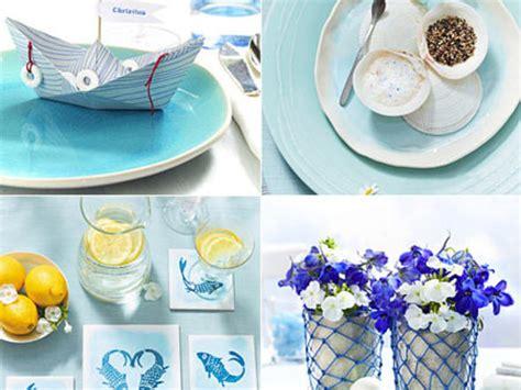 Maritime Tischdeko  Ideen In Blauweiß Lecker