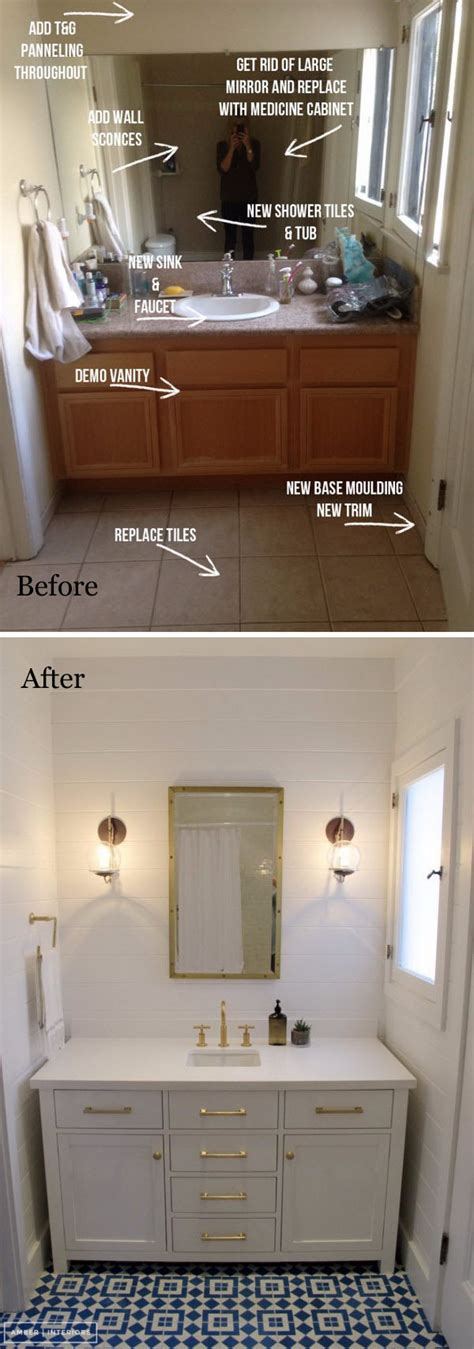 Vanity Guest List by Before And After 20 Amazing Bathroom Makeovers Noted List