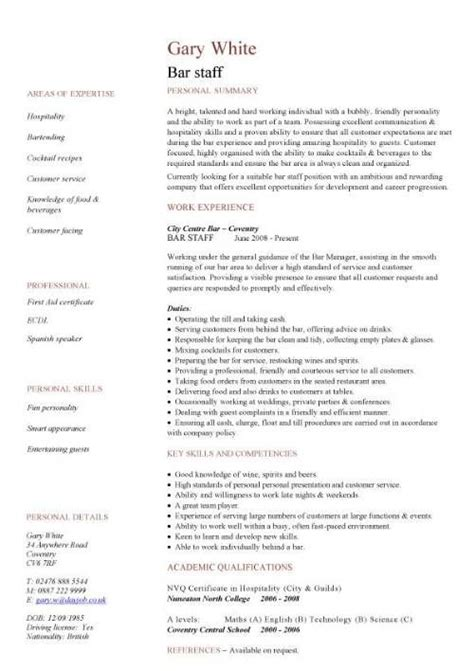 Resume Template Hospitality by Pin By Priyanka Trigg On Resume Sle Resume Templates