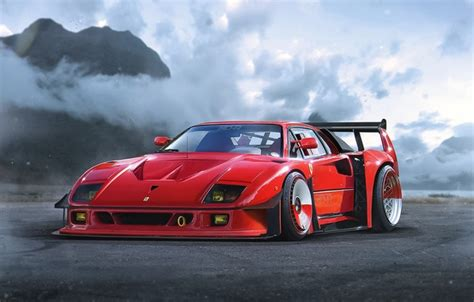 oboi concept ferrari red  car  khyzyl saleem