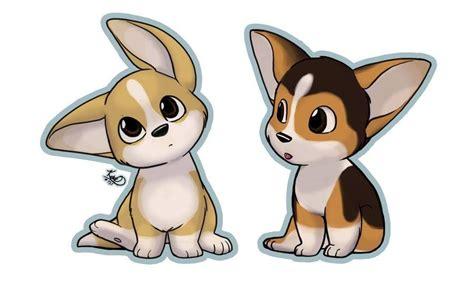 cute cartoon corgis corgis   cute dog drawing