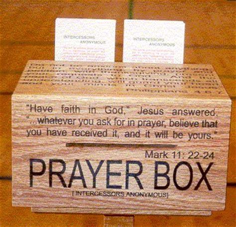 intercessors anonymous prayer box