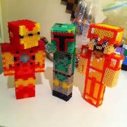 Perler Beads Minecraft 3D Skin