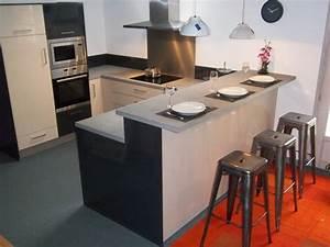 voici la plus petite des cuisines en expotabourets de bar With plan de travail bar cuisine