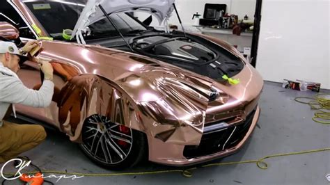 How To Vinyl Wrap A Very Curved Panel In Chrome Rose Gold