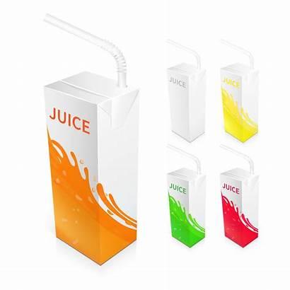 Juice Box Vector Package Packaging Carton Vectors