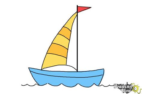 How To Draw A Speedboat Easy by How To Draw A Simple Boat Drawingnow