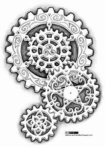 Tattoos and doodles: Steampunk-like gears