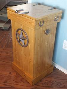 Buy a Hand Crafted Rustic Wood Trash Can, made to order