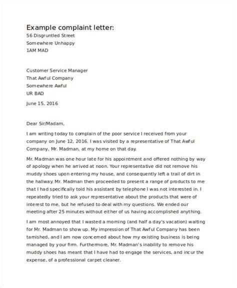 write  complaint letter  service restaurant