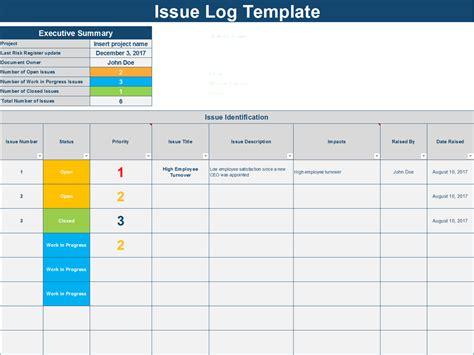 Issue Log Template Excel Erieairfair