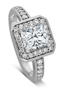 white gold princess cut wedding rings 1 carat princess cut halo engagement ring 10k white gold jeenjewels