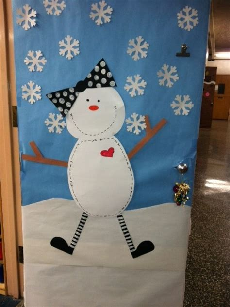 winter classroom door decorations snowman winter door display and bulletin board idea