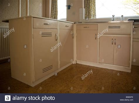 Fashioned Kitchen Cupboards by Fashioned Fitted Cupboards In A Domestic 1950s Kitchen
