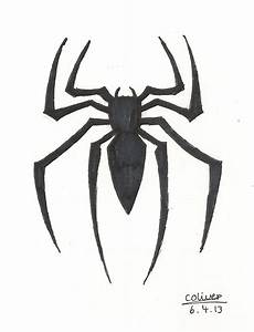 Drawn spider realistic - Pencil and in color drawn spider ...