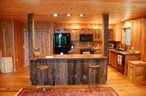 custom  reclaimed wood rustic kitchen cabinets