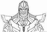 Thanos Coloring Avengers Infinity Pages War Fortnite Drawing Printable Gauntlet Line Game Print End Marvel Thor Hulk Easy Adults Paper sketch template