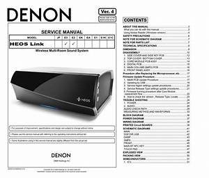 Denon Heos Link Wireless Pre Amplifier Service Manual And